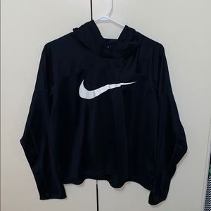 NIKE Running workout top with hood